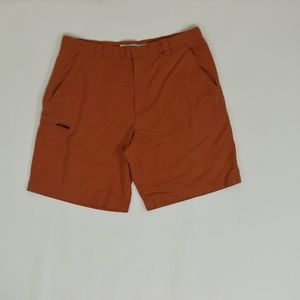 Columbia Regular  Orange 38  Short Cotton Solid
